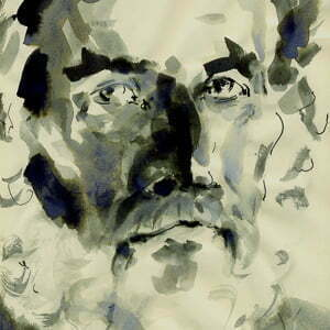 TimNeat-drawing-of-John-Berger-Avignon-2012