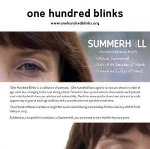 One hundred blinks