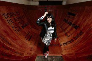Tamsyn Challenger in her Hyperbowl - ©Peter Dibdin